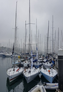 BoatsOnDockInMist
